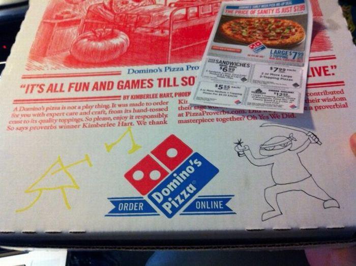 dibujos cajas pizza ninja