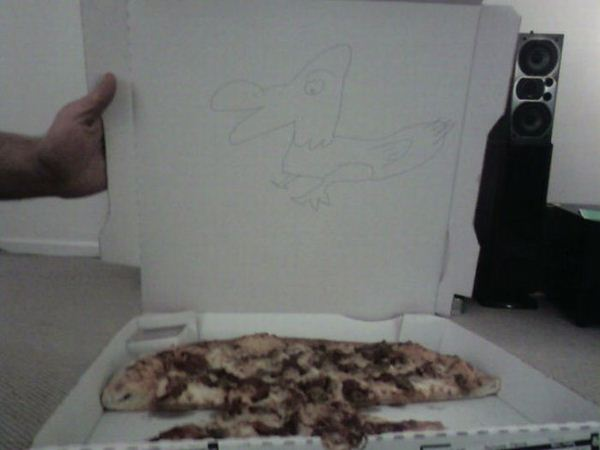 dibujos cajas pizza pato