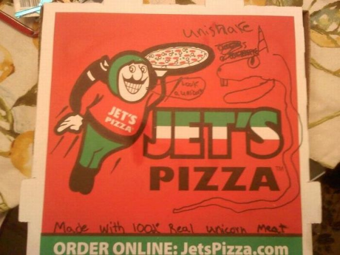 dibujos cajas pizza unicornio 4