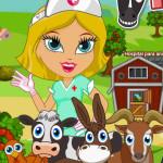 Juego de hospital en la granja de mascotas
