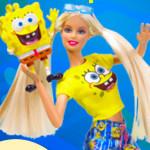 Juego de memoria con Barbie y Bob Esponja