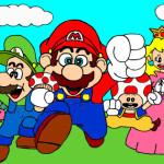Juego de pintar los amigos de Mario