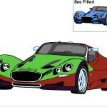Juego de pintar autos con tus colores favoritos