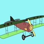 Juego de pintar un avión