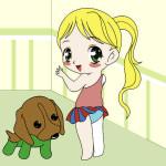 Juego de pintar al bebé y su mascota