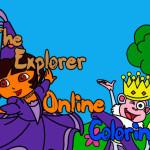 Juego de pintar a Dora la exploradora