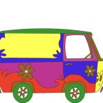 Juego de pintar furgonetas hippies