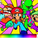 Juego de pintar a Mario y sus amigos