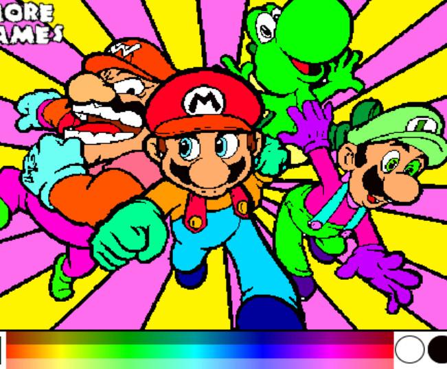 juego pintar mario amigos