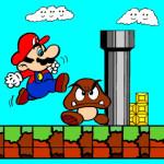 Juego de pintar a Mario y Goomba
