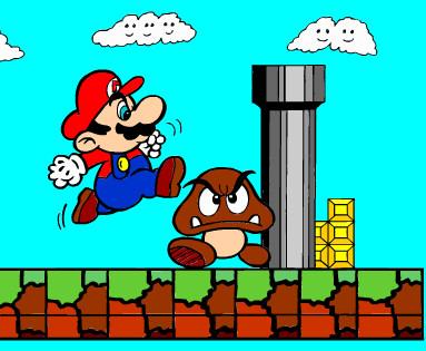 Juego de pintar a Mario y Goomba  Juegos