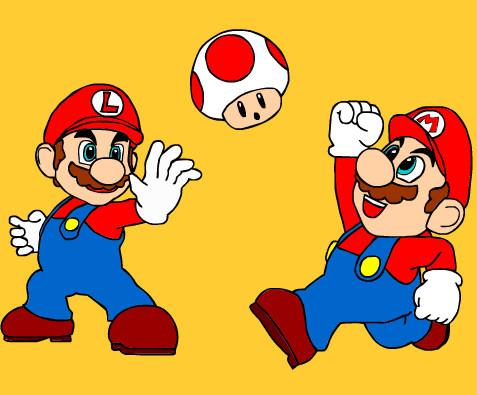 Juego de pintar a Mario y sus amigos  Juegos