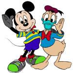 Juego de pintar a Mickey y Donald