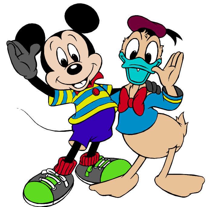 Juego de pintar a Mickey y Donald  Juegos