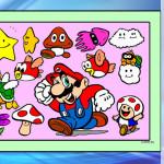 Juego de pintar a los personajes de Mario Bros