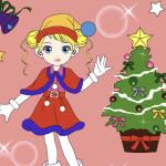 Juego de pintar postales de navidad