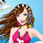 Juego de vestir a Barbie en la playa