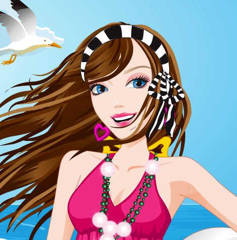 juego-vestir-barbie-playa