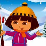 Juego de vestir a Dora para la nieve