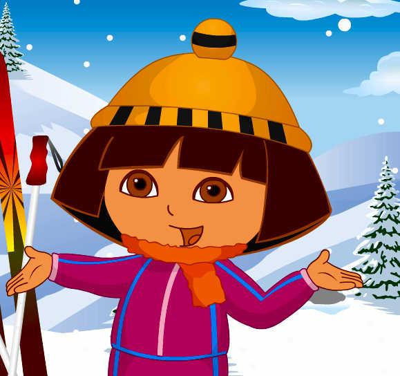 juego-vestir-dora-nieve