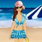 Juego de vestir para la playa