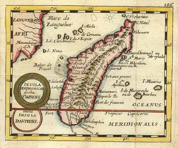 madagascar mapa viejo