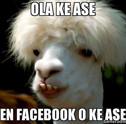 ola ke ase en facebook