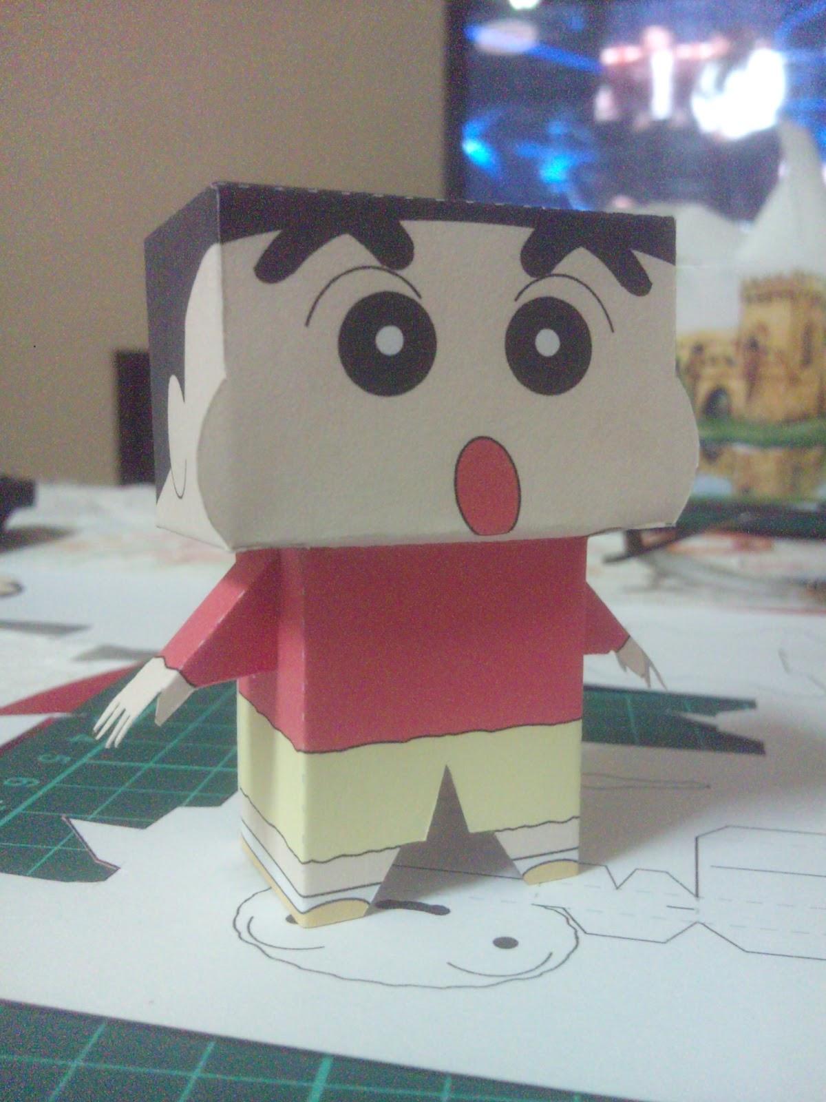 shin chan figura papel
