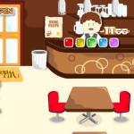 Juego de cocinar en una pastelería cafetería
