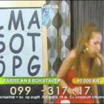 La presentadora Eva Nazemson vomitando en directo