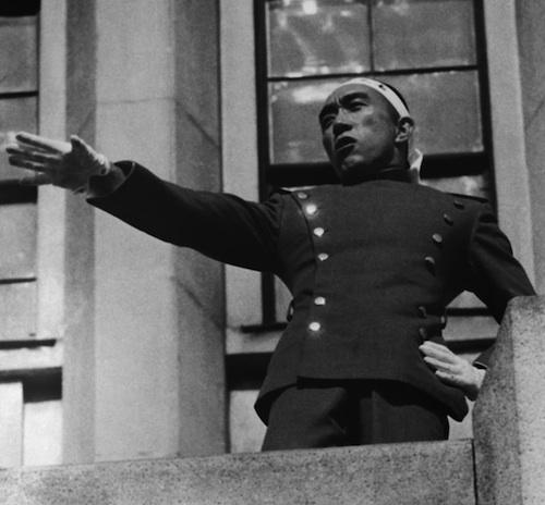Yukio Mishima antes suicidio