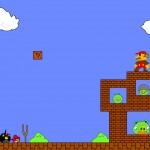 Angry Birds en el mundo Super Mario