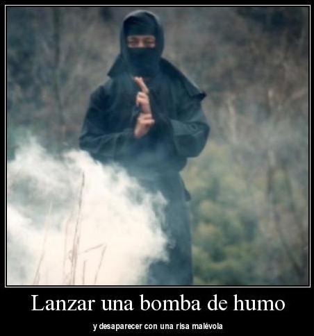 bomba humo ninja