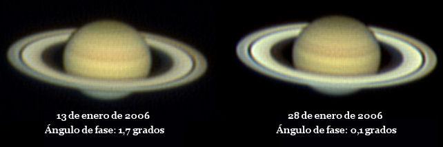 efecto seeliger anillos saturno