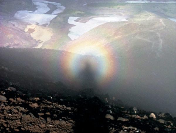 espectro brocken arco iris