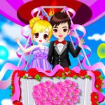 Juego de boda romántica