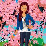 Juego de vestir primaveral