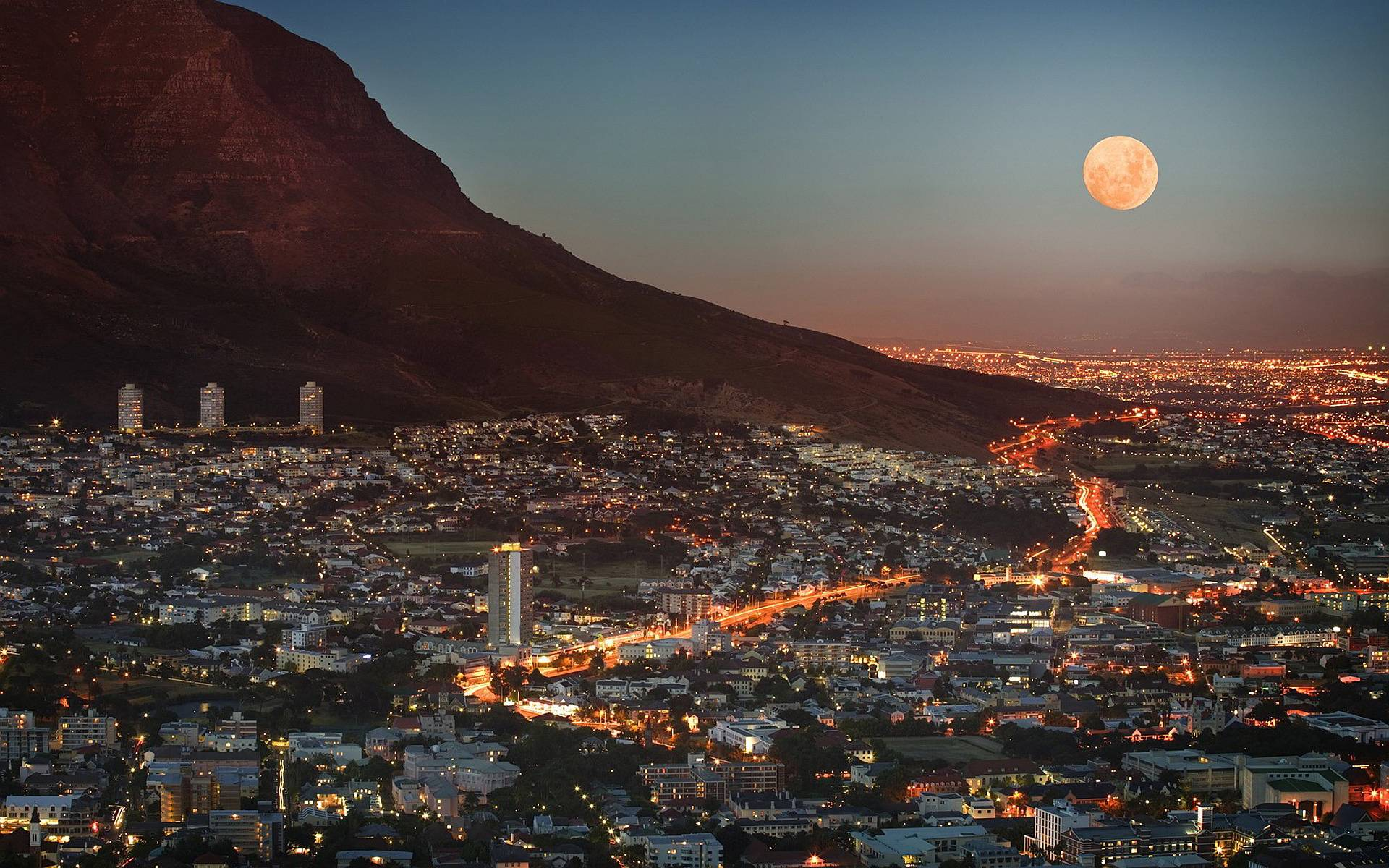 Ciudad del Cabo sudafrica noche