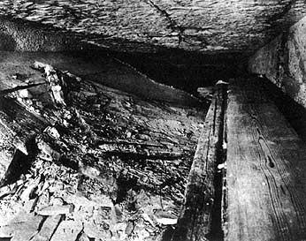 KV55 pasillo entrada tumba