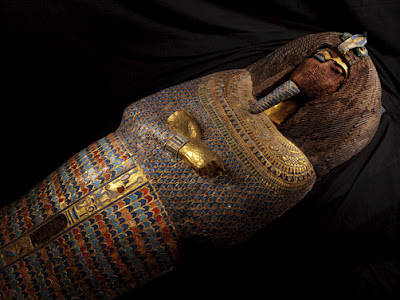 KV55 tumba sarcofago