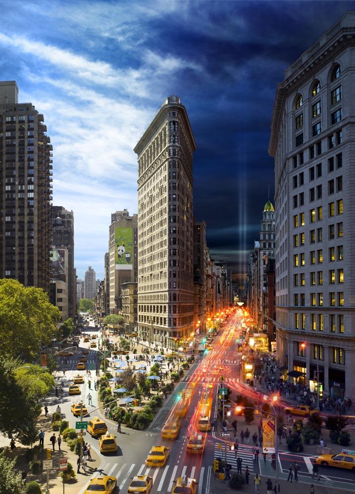 Representacion dia noche Nueva York