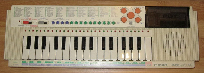 casio pt 88 blanco
