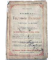 guia telefonica melbourne 1880 phone book