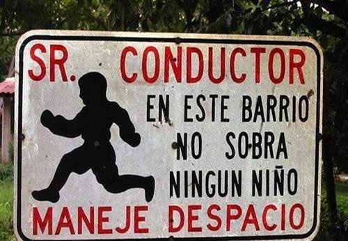 humor señal trafico niños