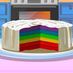 Juego para cocinar pastel arcoiris