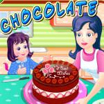 Juego para cocinar pastel de chocolate