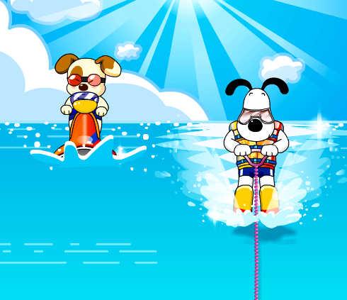 juego-ski-acuatico-perrito