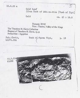 lamina oro tumba egipto