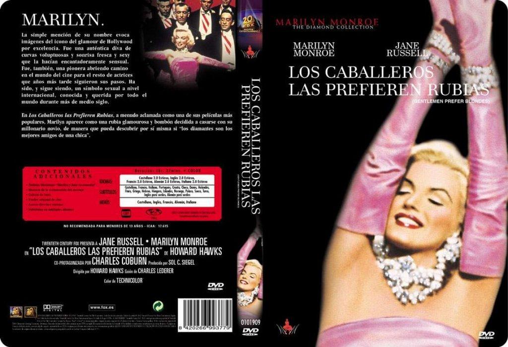 los caballeros las prefieren rubias dvd