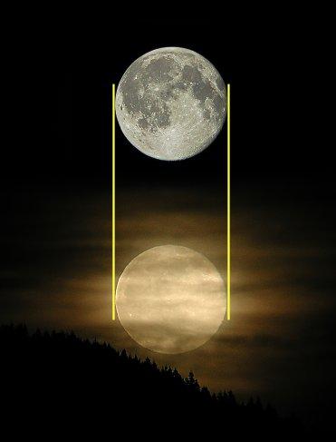 luna grande horizonte